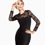 sukienka wieczorowa H&M z koronką w kolorze czarnym - zima 2012/13