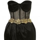 sukienka wieczorowa Topshop w kolorze czarnym - jesień-zima 2012/2013