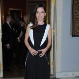 sukienka wieczorowa w kolorze czarno-białym - Paulina Sykut