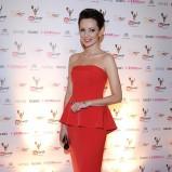 sukienka wieczorowa w kolorze czerwonym - Dorota Gardias