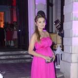 sukienka wieczorowa w kolorze różowym - Małgorzata Socha