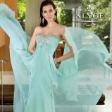 suknia Alyce Paris z aplikacją zwiewna