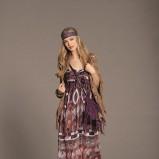 suknia Orsay w etniczne wzory długa - wiosna/lato 2012