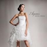 suknia ślubna Agnes Bridal Dream z falbankami asymetryczna