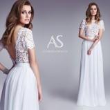 suknia ślubna Agnieszka Światły z koronką z dekoltem  na plecach