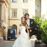 suknia ślubna Annais Bridal z falbanami