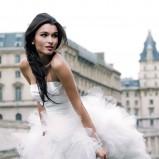 suknia ślubna Cymbeline asymetryczna