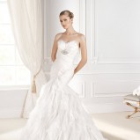 suknia ślubna La Sposa z falbanami