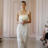 suknia ślubna Oscar de la Renta na ramiączkach