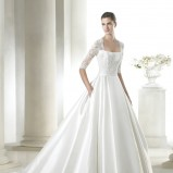suknia ślubna St. Patrick z koronką z rękawami