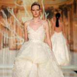 suknia ślubna Yolan Cris z koronką asymetryczna