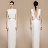 Suknia ślubna z rozcięciem z tyłu