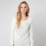 sweter Bershka w kolorze ecru  - moda damska 2012/13