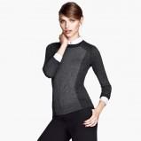 sweter H&M w kolorze popielatym - moda na jesień 2013