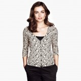 sweter H&M we wzorki - kolekcja jesienna 2013