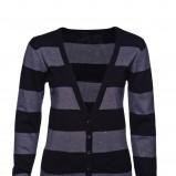 sweter New Yorker w pasy rozpinany - moda jesień/zima 2010