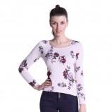 sweter Top Secret w kwiaty w kolorze jasnoróżowym - moda 2013/13