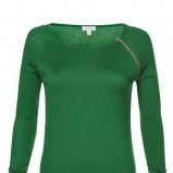 sweterek Solar w kolorze ciemnozielonym z zameczkiem - kolekcja na jesień i zimę 2012/13