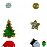 świąteczne małe kolczyki SIX - świąteczna biżuteria