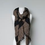 szal ZARA w kolorze brązowym - akcesoria na jesień i zimę