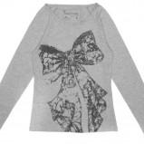 szara bluzka Carry z nadrukiem - jesień/zima 2011/2012