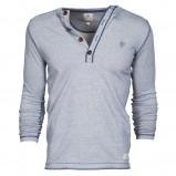 szara bluzka Cottonfield z guzikami - moda wiosna/lato