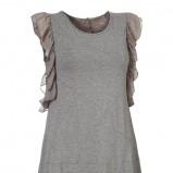 szara bluzka InWear z falbanami - lato 2012