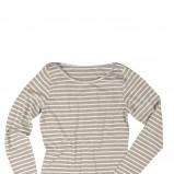 szara bluzka Reporter w paski - moda wiosenna