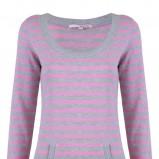 szara bluzka Tally Weijl w paski - trendy wiosna-lato