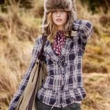 szara koszula H&M w kratkę - jesień/zima 2011/2012
