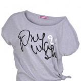 szara koszulka Drywash z napisami - trendy 2012