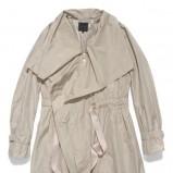 szara kurtka Silk and Soie z paskiem - moda 2012