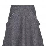 szara spódnica Drywash tweedowy - jesień 2012