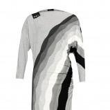 szara sukienka Caterina w paski - z kolekcji jesień-zima