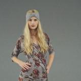 szara sukienka Jackpot w kwiaty - jesień/zima