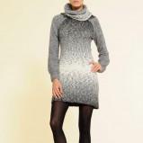 szara sukienka Mango z golfem - jesień-zima 2010/2011