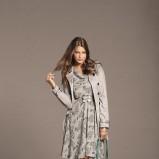szara sukienka Orsay w kwiaty - wiosna/lato 2012
