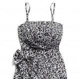 szara sukienka Reserved w panterkę