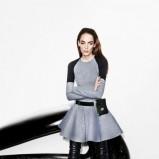 szara z długam rękawem sukienka Simple - moda na jesień 2013