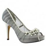 szare pantofle Menbur z perełkami - 2012