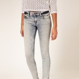 szare spodnie Asos rurki - z kolekcji wiosna-lato 2012