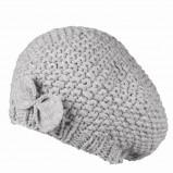 szary beret Top Secret z kokardą - z kolekcji jesień-zima