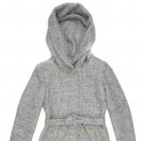 szary płaszcz Carry z kapturem - kolekcja jesienno-zimowa