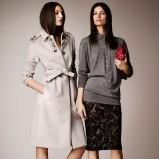 szary płaszczyk Burberry - moda damska
