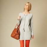 szary sukienka Promod - kolekcja jesienno-zimowa