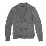 szary sweter Bialcon rozpinany - kolekcja zimowa