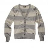 szary sweter Big Star w pasy rozpinany - moda jesień/zima 2010
