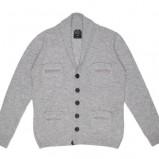 szary sweter Carry rozpinany - moda jesień/zima
