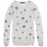 szary sweter House w kropki - moda 2013/14
