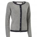 szary sweter InWear rozpinany - trendy na jesień